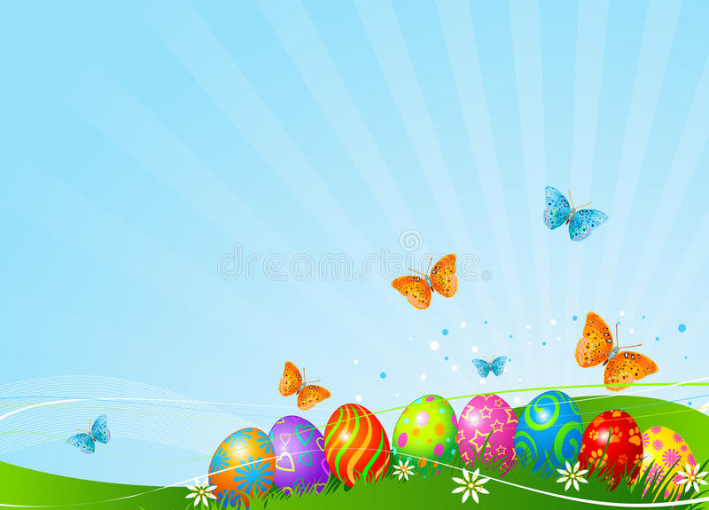 Download Beautiful Easter Eggs Background Stock Vector - Image: 19112249