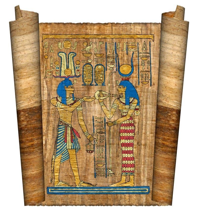 Beautiful egyptian papyrus royalty free stock photo