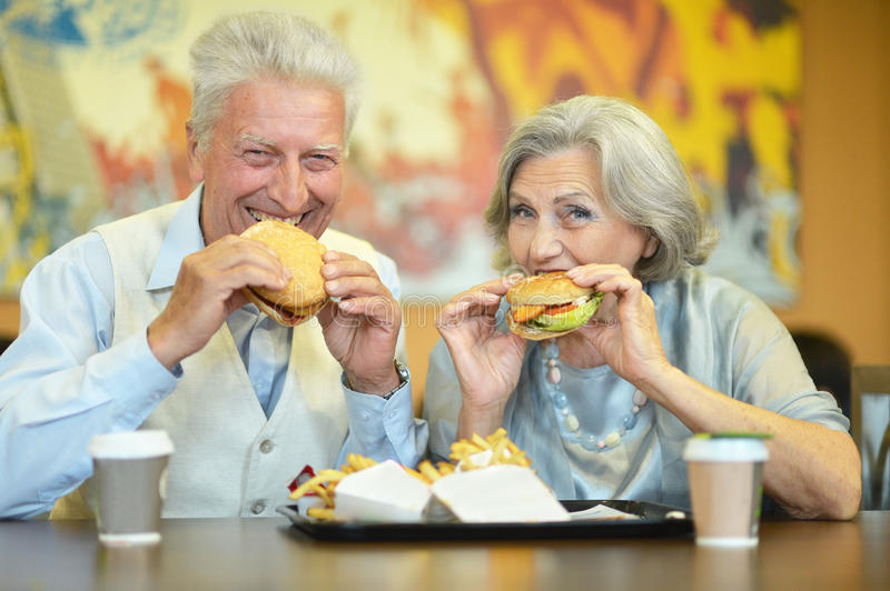 Beautiful elderly couple stock photo