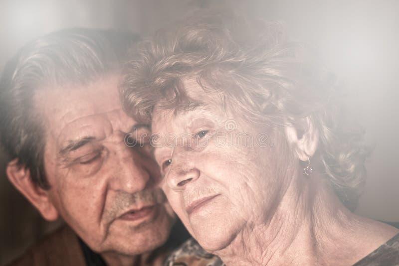 Beautiful elderly happy royalty free stock images