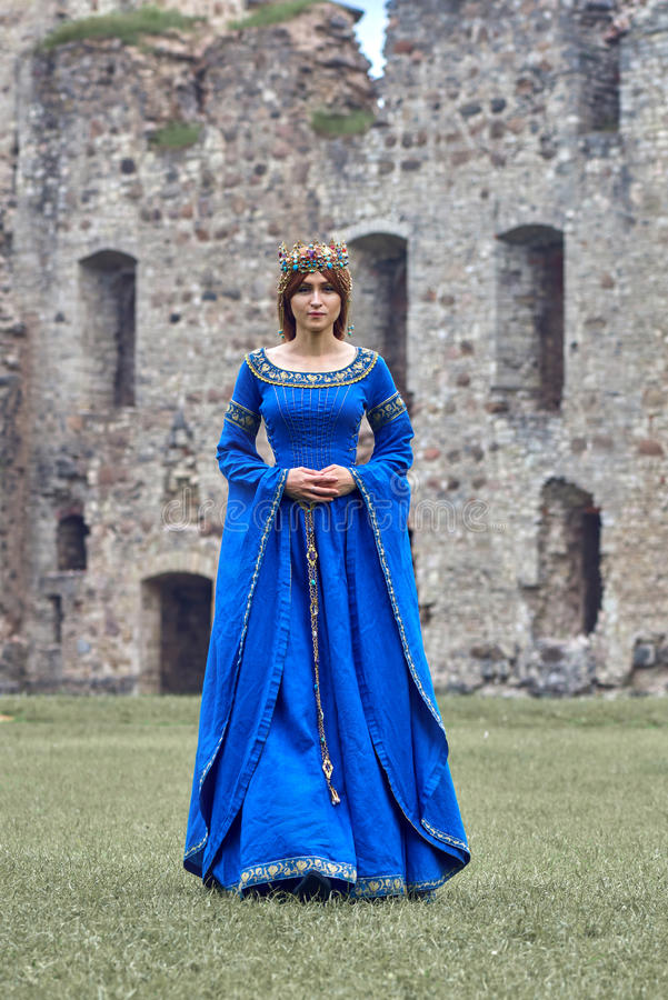 Beautiful Eleanor of Aquitaine, duchess and queen of England and France on High Middle Ages. royalty free stock images