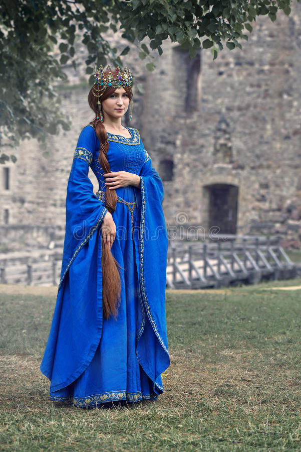 Beautiful Eleanor of Aquitaine, duchess and queen of England and France on High Middle Ages. Mother of Richard the Lionheart royalty free stock photos