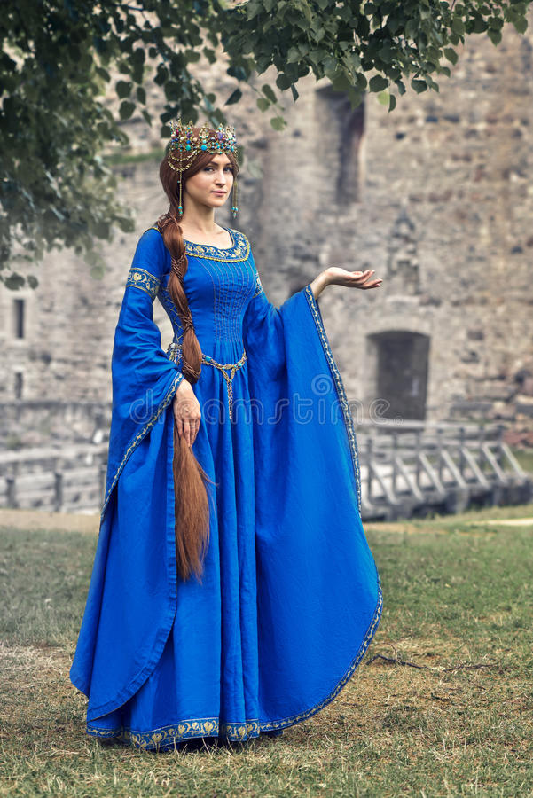 Beautiful Eleanor of Aquitaine, duchess and queen of England and France on High Middle Ages. Mother of Richard the Lionheart stock photos