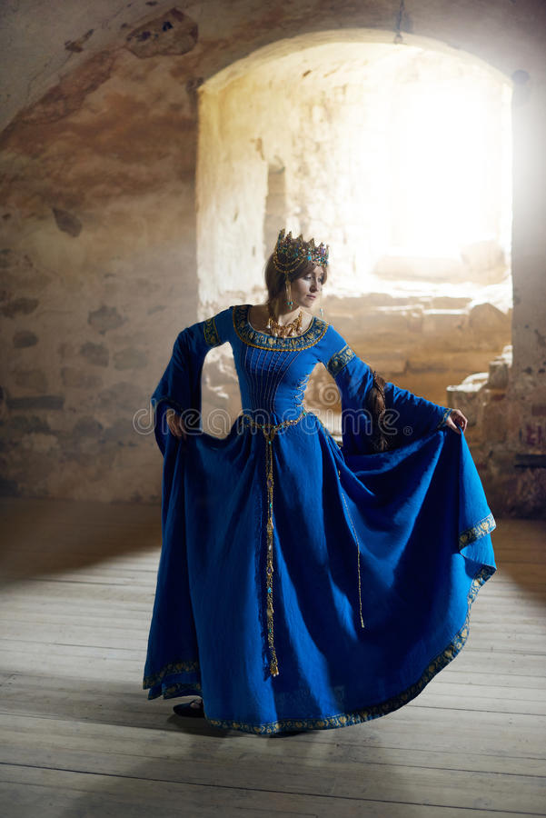 Beautiful Eleanor of Aquitaine, duchess and queen of England and France on High Middle Ages. Mother of Richard the Lionheart royalty free stock photo