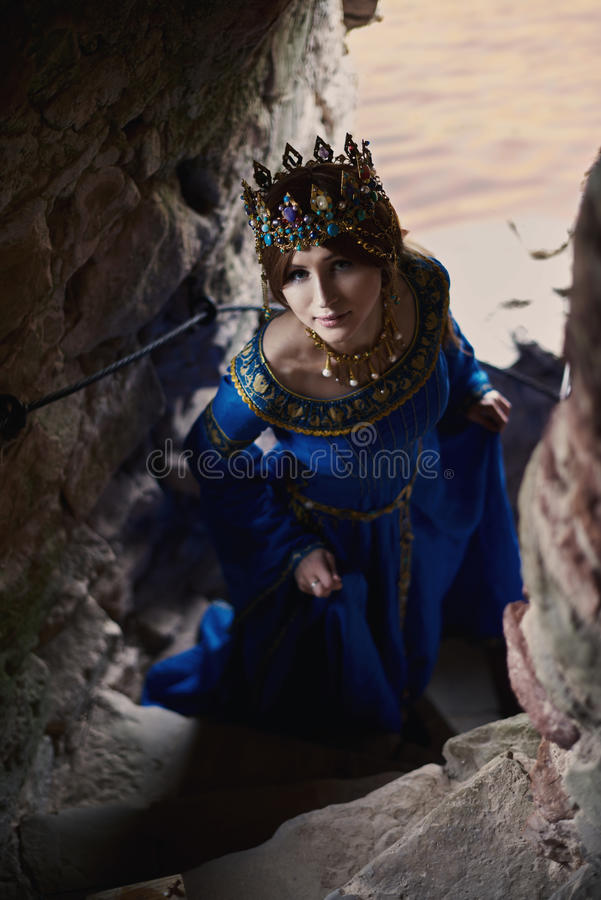 Beautiful Eleanor of Aquitaine, duchess and queen of England and France on High Middle Ages. Mother of Richard the Lionheart royalty free stock images