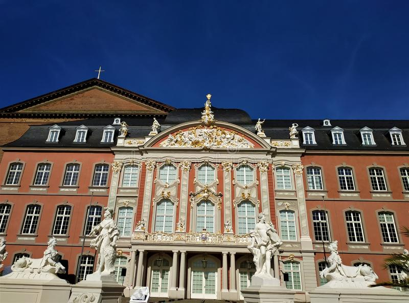 Beautiful Electoral Palace in the city of Trier royalty free stock images