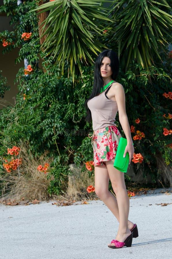 Beautiful elegance young woman stock photography
