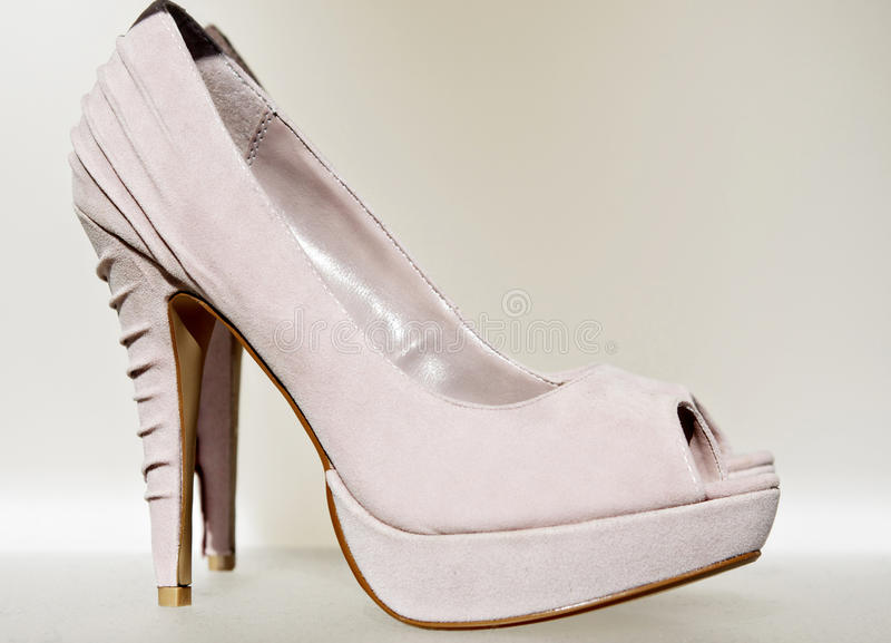 Beautiful elegant ladies high heel shoe royalty free stock photos