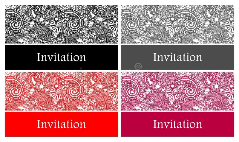 4 beautiful and elegant vector invitation card royalty free illustration
