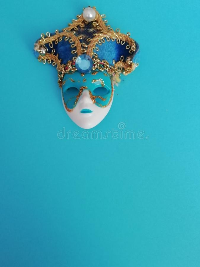 Beautiful elegant venetian mask for different design royalty free stock photography