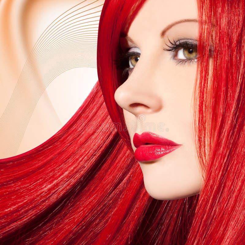 Beautiful, elegant woman flyer design. / studio shot royalty free stock photography