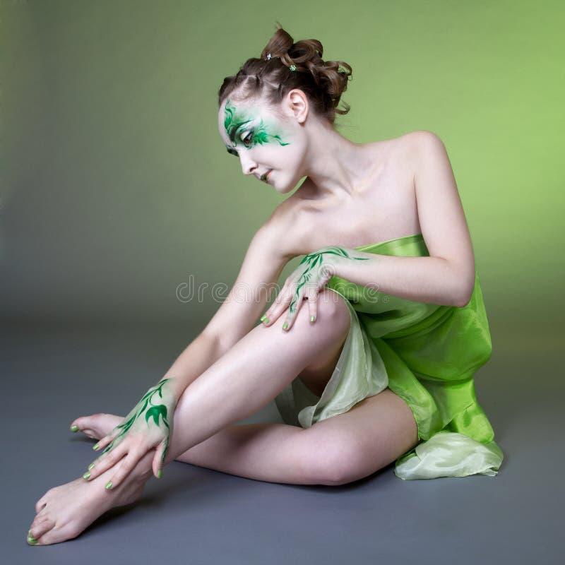Beautiful elf girl stock images