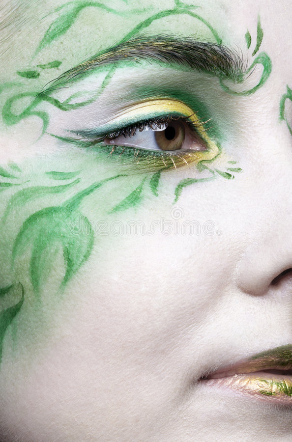 Beautiful elf girl stock photo
