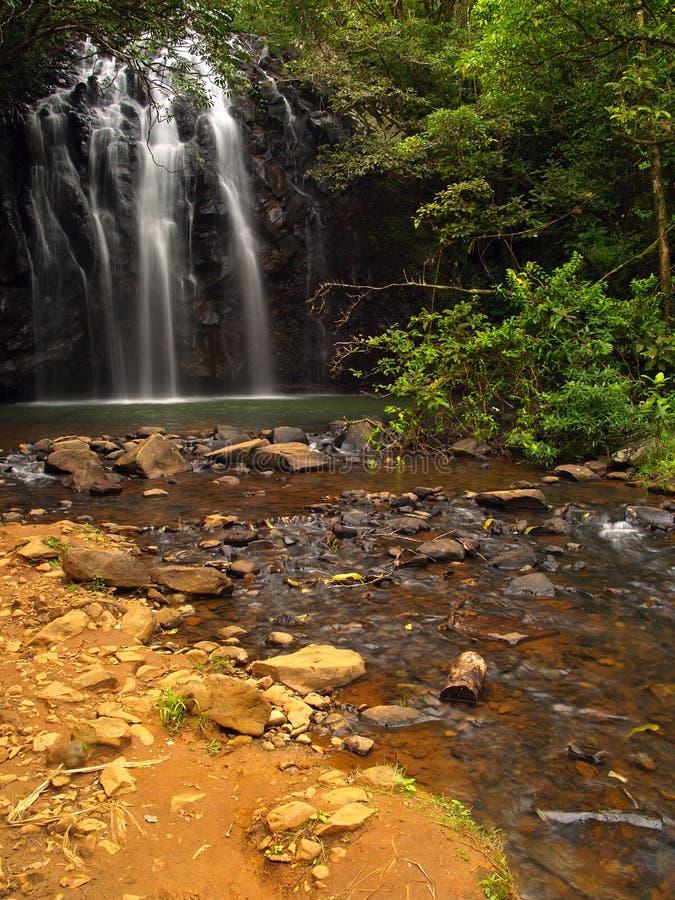 The beautiful Ellinjaa Waterfalls stock image