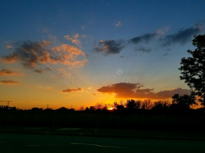 A beautiful end to the evening royalty free stock photo