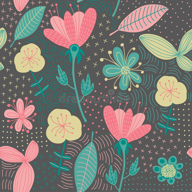 Download Colorful Floral Seamless Pattern. Vector Illustration Stock Illustration - Illustration: 30040481