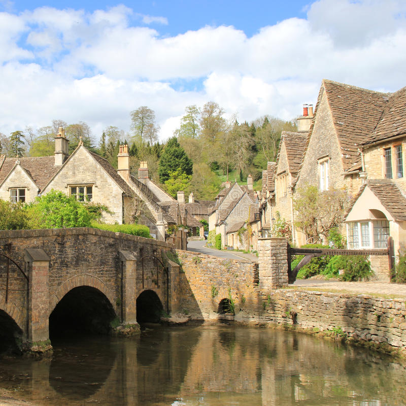 Beautiful English Village Castlecombe royalty free stock images