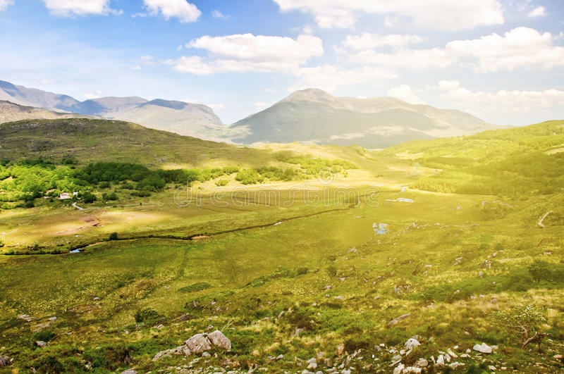 Beautiful epic irish countryside rural landscape scenery from th royalty free stock images