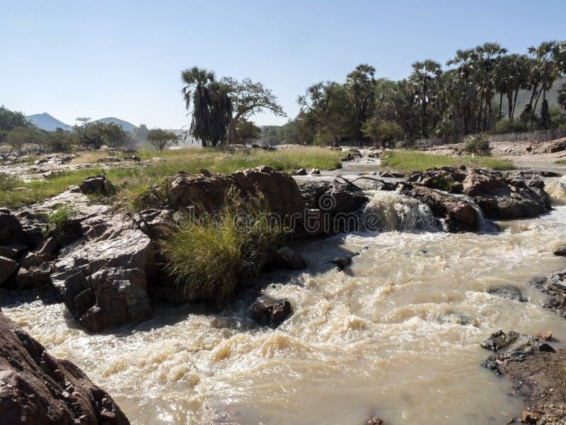 Beautiful Epupa falls on the Kunene River, Namibia. The Beautiful Epupa falls on the Kunene River, Namibia royalty free stock photo