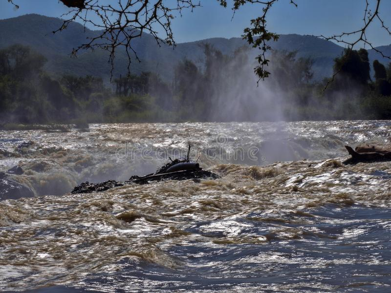 Beautiful Epupa falls on the Kunene River, Namibia. The Beautiful Epupa falls on the Kunene River, Namibia stock photo