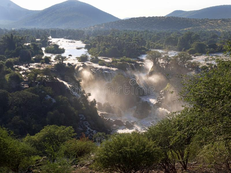 Beautiful Epupa falls on the Kunene River, Namibia. The Beautiful Epupa falls on the Kunene River, Namibia royalty free stock images