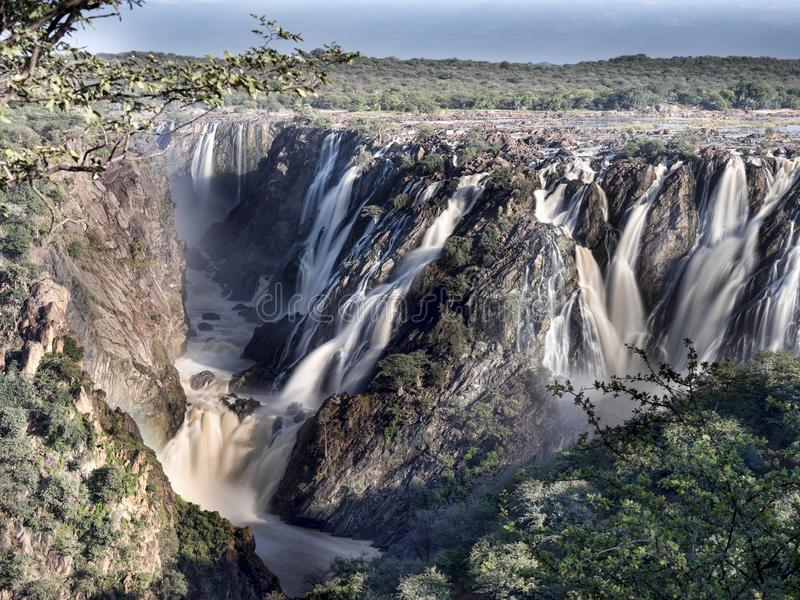 Beautiful Epupa falls on the Kunene River, Namibia. The Beautiful Epupa falls on the Kunene River, Namibia royalty free stock image