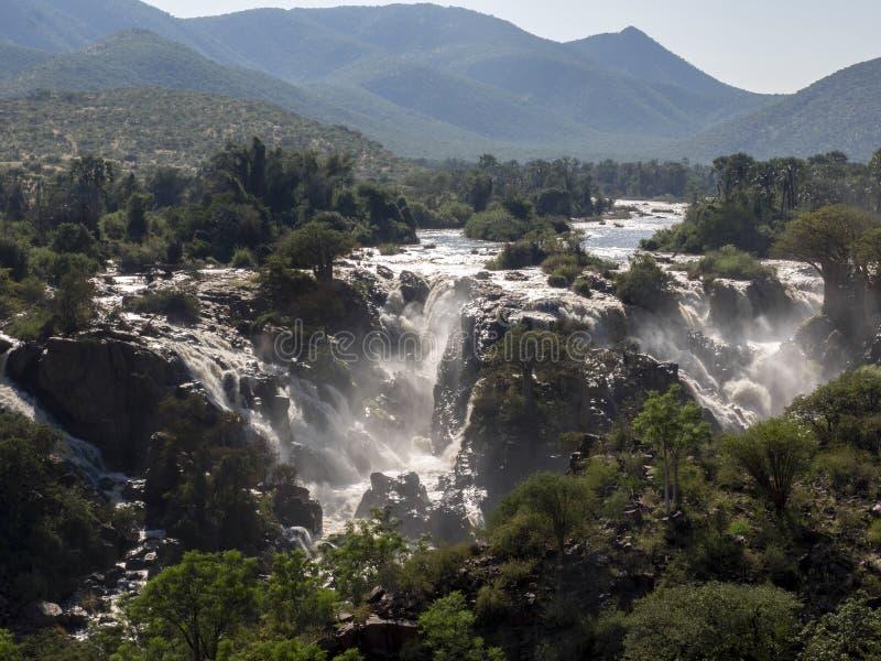 Beautiful Epupa falls on the Kunene River, Namibia. The Beautiful Epupa falls on the Kunene River, Namibia royalty free stock photography