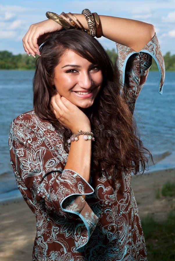 Beautiful ethnic young women stock photography