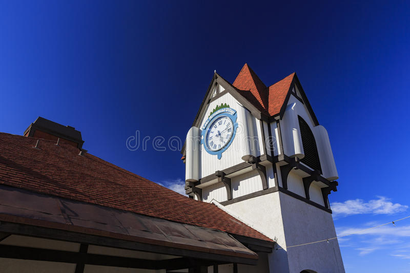 Beautiful Europe style building in Lake arrowhead. San Bernardino, SEP 1: Beautiful Europe style building in Lake arrowhead on SEP 1, 2014 at San Bernardino, Los stock photo