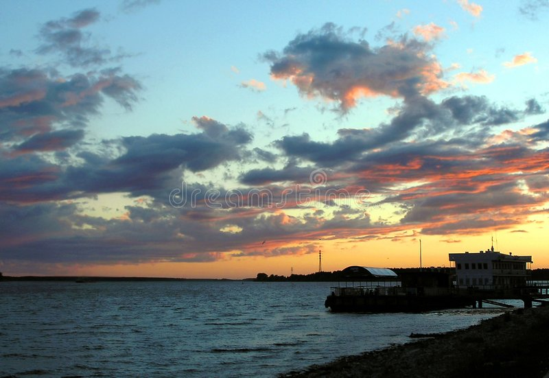 Beautiful evening royalty free stock images