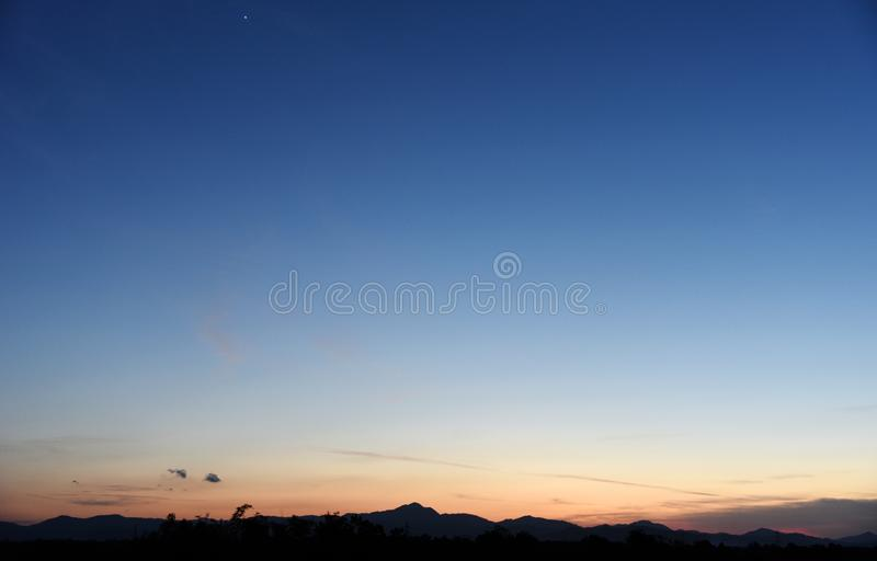 Beautiful evening Blue Sky. To day stock photos