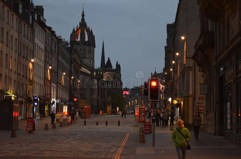 The beautiful evening in Edinburgh royalty free stock photo