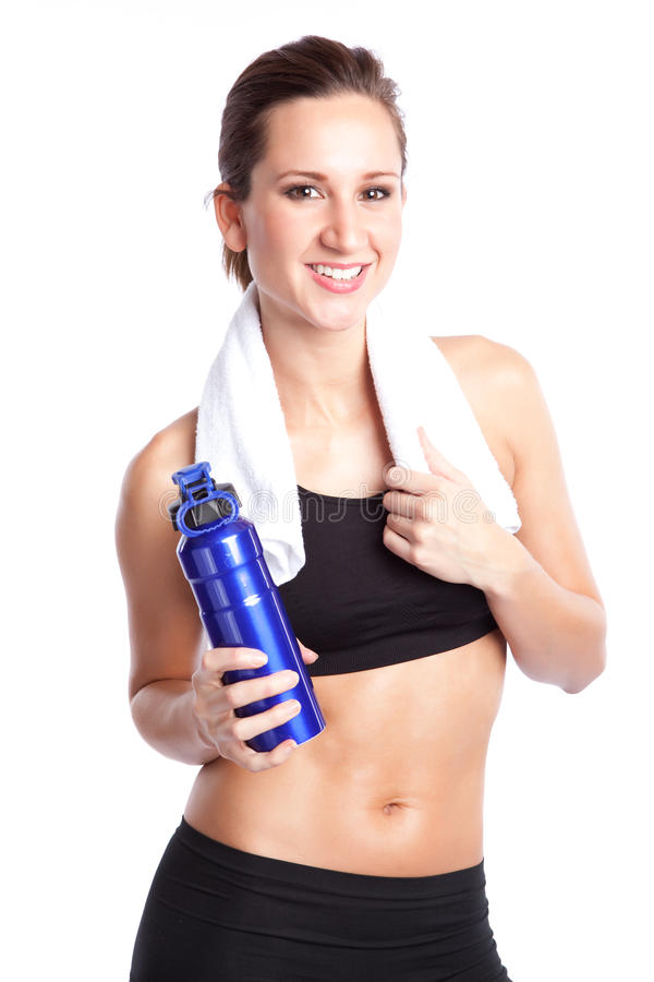 Beautiful exercise woman stock images
