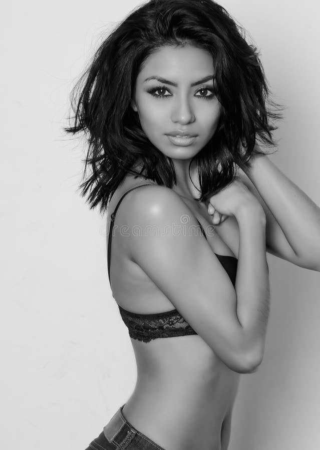 Beautiful exotic fashion model stock photography