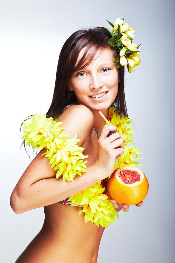 Beautiful exotic girl royalty free stock images