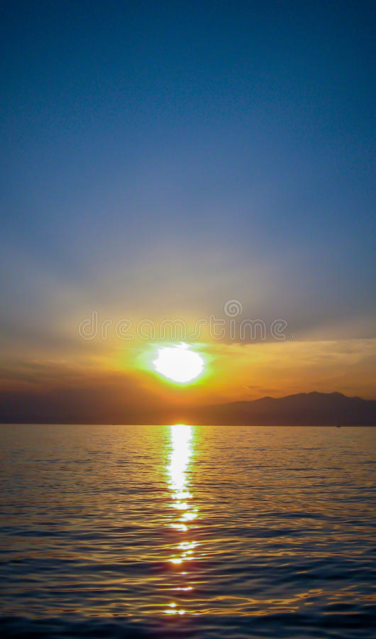 Beautiful exotic sunrise royalty free stock photos
