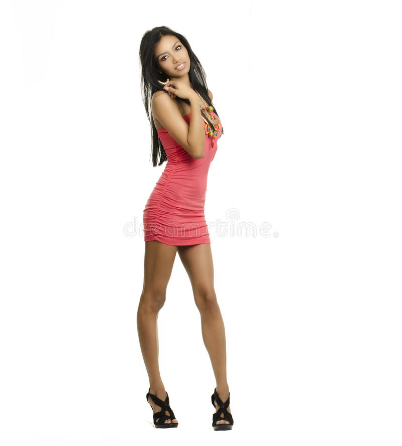 Beautiful exotic young woman full body stock photography
