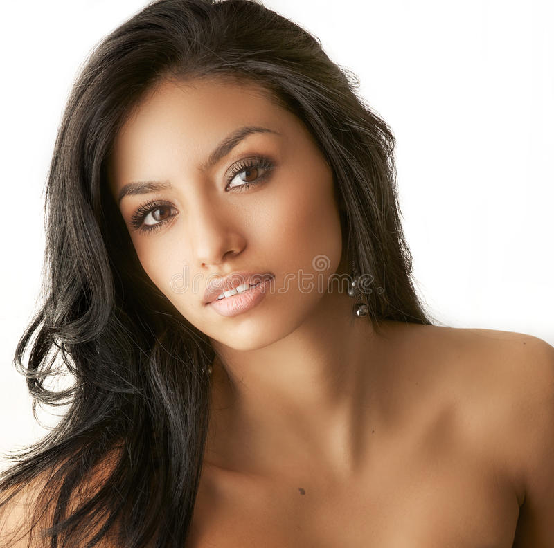 Beautiful exotic young woman stock image