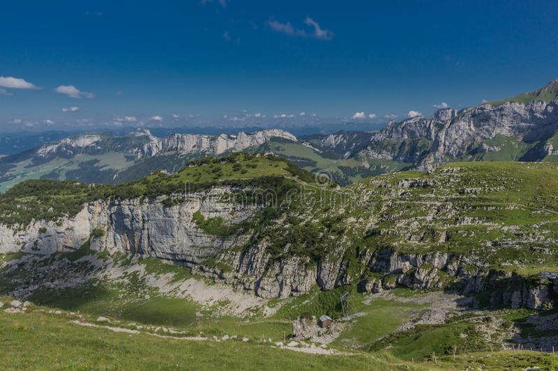 Beautiful exploration tour through the Appenzell mountains in Switzerland. - Appenzell/Alpstein/Switzerland. August 2019 royalty free stock photos