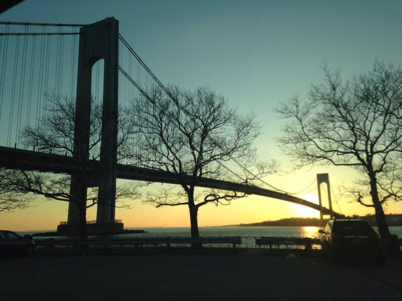 Beautiful extended bridge royalty free stock photo