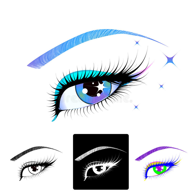 Download Beautiful eye stock vector. Image of makeup, attractive - 12607555