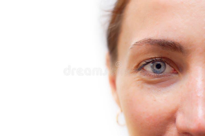 Beautiful eye close up. stock images