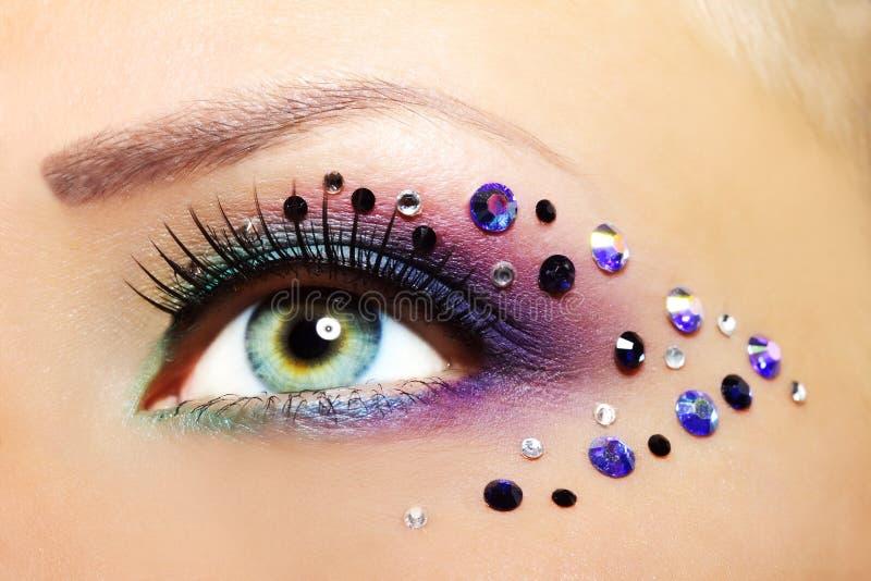 Wonderbaarlijk Beautiful Eye Makeup stock photo. Image of aster, eyebrow - 26835824 IR-19