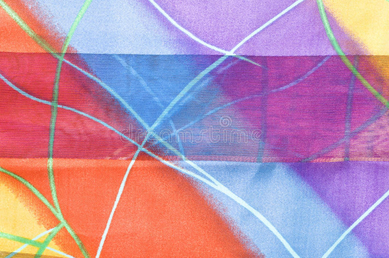 Beautiful fabric with colorful stripes stock photos