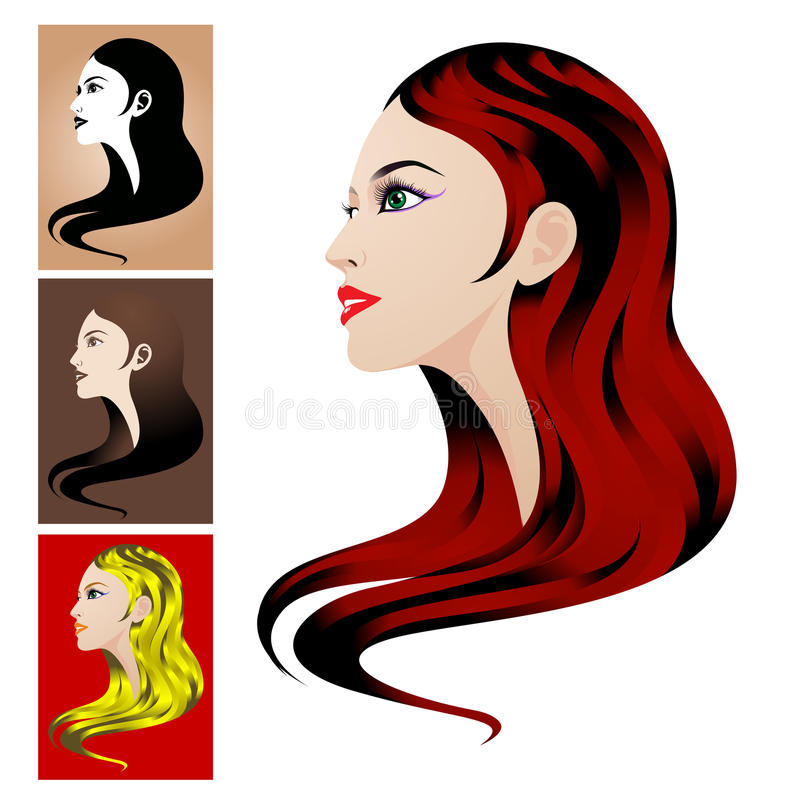 Download Beautiful face stock vector. Image of face, beauty, blond - 12833806
