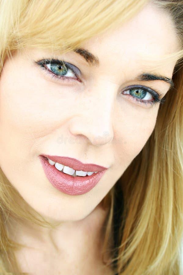 Beautiful face close-up stock images