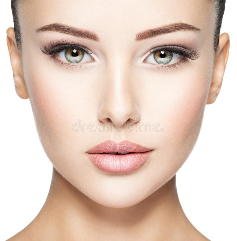Free Beautiful Face Of Young Woman With  Health Fresh Skin Royalty Free Stock Photography - 157476477