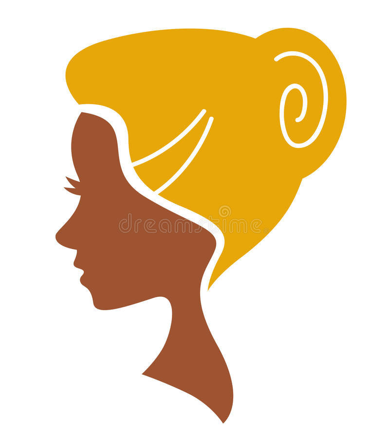 Download Beautiful Face Woman Silhouette Isolated On White Stock Vector - Image: 25958529