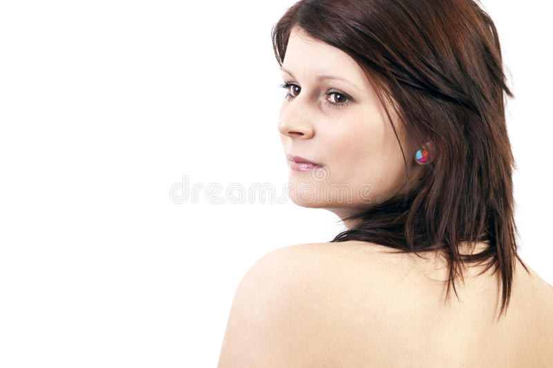 Download Beautiful Face Of Young Adult Woman - Isolated On White Stock Image - Image: 39716261