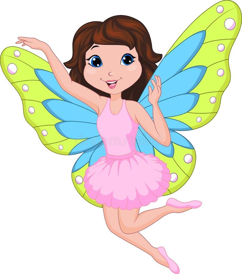Beautiful fairy cartoon royalty free illustration
